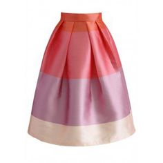 Pink? Pink! You? Chic! Give your closet a color pop with our Lollipops color block printed midi skirt! With three different but equally rich pink hues and a pleated silhouette—this is one is for the girly-girls! - Color blocks in peach and pink colors - Pleated silhouette - Not lined - Back zip closure - 100% Polyester - Machine washable Size(cm)Length  Waist XS       69      64 S        69     68 M        69     72 L        69     76 XL…