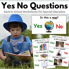 Print and Go Back to School Yes No Questions #backtoschool #printandgo Autism Activities, Autism Resources, Teacher Resources, Back To School Worksheets, Back To School Activities, Teacher Wish List, Autism Causes, 2nd Grade Writing, Teaching Materials