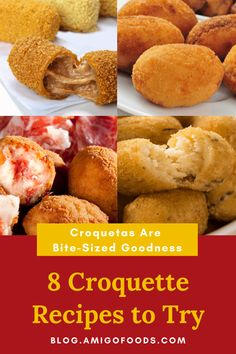 Croquetas are the perfect tapa! Take a look at these recipes and enjoy croquetas all day long. #spanishfood #spain #croquetas #tapas Croquettes Recipe, Good Things, Recipes, Food Recipes, Rezepte, Recipe, Cooking Recipes