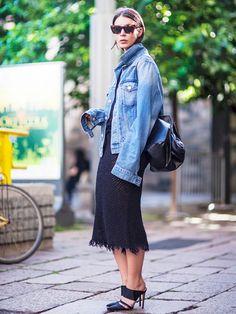 12 Ways To Style An Oversized Denim Jacket