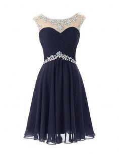 Singmo Women's Short Prom Dresses Homecoming Dress Juniors Graduation Dress Navy US10