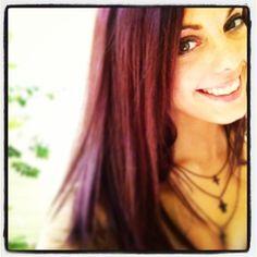 Burgundy/plum hair color