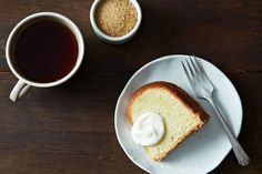 Cold Oven Pound Cake from Food52 - very good, new default pound cake recipe. Worked well with non-hydrogenated palm shortening. Stuck horribly in my bundt pan, but it is notorious for that. Try using cake pan grease next time.