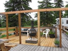 Covered rv deck addition small house plans modern for Rv deck plans