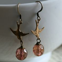 Hey, I found this really awesome Etsy listing at https://www.etsy.com/listing/110805643/earrings-flying-bird-sparrow-bird
