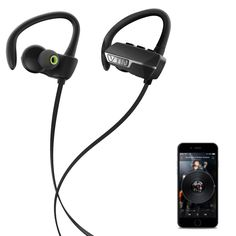 Indoor/ Outdoor Wireless Bluetooth 4.1 Noise Cancelling Earbuds, with Easy Pairing, and Mic
