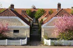 Karljohansvern military facility in Horten, Norway. Living barracks fron the 18th century.