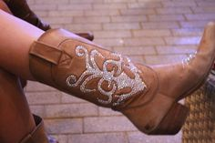 Blinged out cowgirl boots