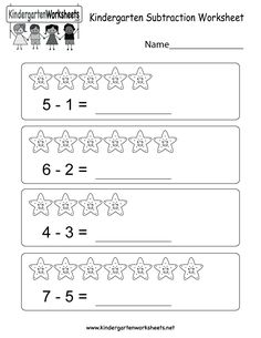this is a fun subtraction worksheet kids can learn to subtract using the images - Kids Worksheets To Print