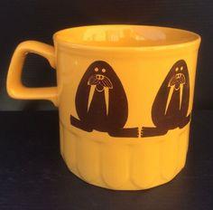 Royal Alma 1970's Walrus Coffee Mug Cup Ironstone Staffordshire Made in England