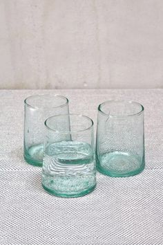 Moroccan Blown Glass Water Glasses - Set of 6