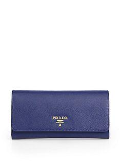 Prada Saffiano Wallet with Removable Card Case