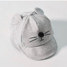 39790f3929e Nuovo Cappello Del Bambino con il disegno Del Fumetto Del Gatto Bambini Cappello  Da Baseball Ragazzo