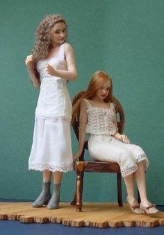 Miniature dolls by Susan Scogin