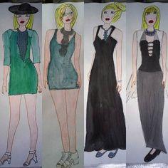 #paint #painting #draw #drawing #fashion #moda #mode #style #stylist #design #designer #fashiondesign #fashiondesigner #jewellery #black #blonde #blondiegirl #hat #illustration #fashionillustration #redlips