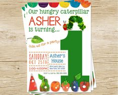 Custom Hungry Caterpillar Birthday Party by MulliganDesign on Etsy