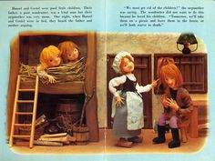 Today& vintage children& book is Hansel and Gretel . This version is a puppet book from Rose Art Studios in Japan. These books, which . Old Children's Books, Vintage Children's Books, Vintage Toys, Classic Fairy Tales, Children's Picture Books, Rose Art, Stories For Kids, Stop Motion, Art Studios