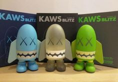 KAWS, Blitz Set of 3 (Blue, Green and Clear), 2004, est $1,000 – $2,000