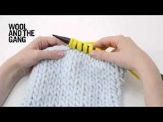 How to pick up stitches in knitting - YouTube