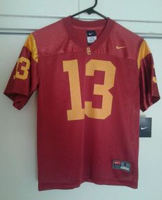 NIKE USC Southern California Trojans Red Home Football Jersey Kids Large 16/18 #Nike #USC - SOLD