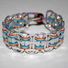 Rainbow Pop Can Tab Bracelet