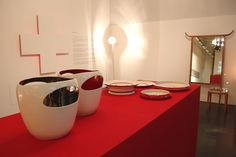 LE GRAND CHIC SUISSE by Philippe Cramer. The Swiss Cultural Center of Milan invited Philippe Cramer to show his work during the Salone Di Mobile. 2004 Cultural Center, Milan, Invitations, Chic, Tableware, Elegant, Dinnerware, Dishes, Place Settings