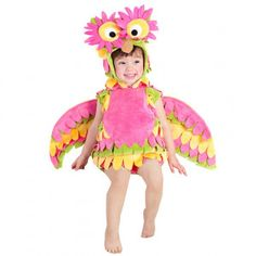 98affb11e96 Baby Girls Pink Flower Wing Holly The Owl Dress Up Halloween Costume 6-18M  Owl