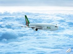Alitalia introduces its new brand, new aircraft livery and new visual identity #livery #livrea #a330 #airbus #boing #avgeek #aircraft #design #fashion #italian #italy