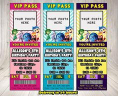 INSIDE OUT ticket cinema INVITATION.Inside by DownloadPrintables