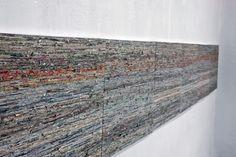 Almyra Weigel. Newspaper threads on canvas. www.almyraweigel.de