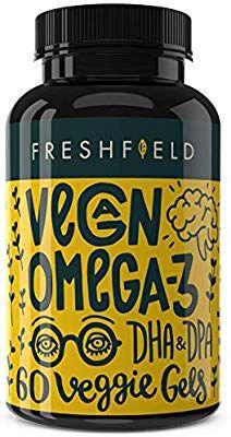 Freshfield Vegan Omega 3 Dha Supplement Better Than Fish Oil Algal Oil For Joint Eye Healt Dha Supplement Organic Vegan Protein Powder Vegan Protein Powder