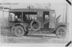 Kansas Line Truck. who calls that the good ole days? Lineman Wife, Power Lineman, Trucks, Guy Stuff, Telephone, Tigers, Kansas, Bears, Identity