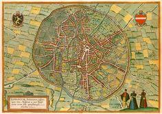 Leuven landkaart, Braun & Hogenberg, 1581