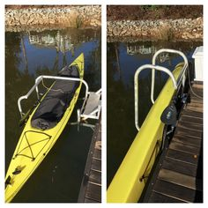 Kayak Stow & Go. Kayak Launch and Storage System for your boat dock.