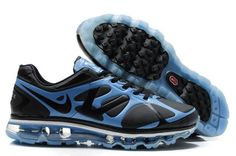 competitive price 9d9eb af6ab Air Max 2012 For Mens Black Blue On Hot Sale