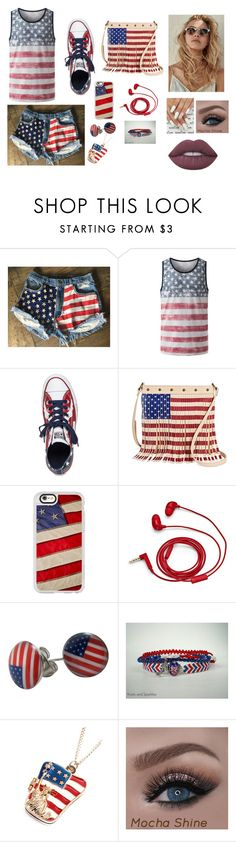 """amerika"" by reka-laura-hegedus on Polyvore featuring Levi's, Converse, TWIG & ARROW, Casetify, FOSSIL, Chicnova Fashion and Lime Crime"