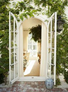 Glass French Doors | AMY NEUNSINGER for Mark D. Sikes