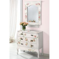 decoupage works from around the world - furnitures Decoupage Furniture, Painted Furniture, Furniture Ideas, Mickey House, Shabby Chic Vanity, French Furniture, Retro, Stencil, Hand Painted