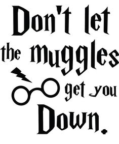 Don't Let The Muggles Get You Down Harry Potter Decal Sticker Harry Potter Decal, Harry Potter Iphone Case, Harry Potter Shirts, Harry Potter Mugs, Harry Potter Love, You Got This, Let It Be, Cricut Creations, Vinyl Crafts