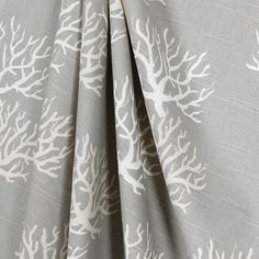 Gray Curtain Valance Window Treatment Coral Reef Nautical