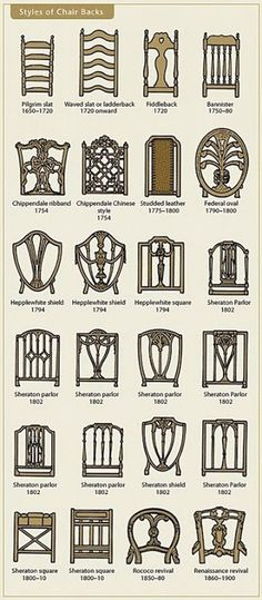 I love this Decor Tip: Learn the AGE of a chair by the style of it's back! Good…