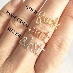 Fuck handmade wired rings. by PASSIONandLOVE on Etsy
