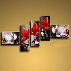 Magnolie tryptyk obraz ręcznie malowany 175x80