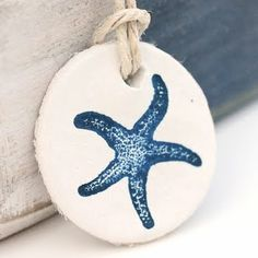 painted clay star fish ornament