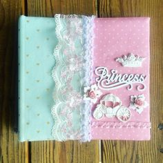 Princess Photo Album Custom Made Fabric by ShabbyChicJCouture
