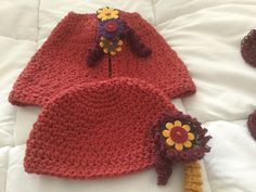 Warmer Set    Hat with matching Capelet by 374threads on Etsy