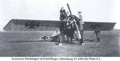 Leutnant Fischinger of Feld-Flieger Abteilung 21 with his Pfalz E.I