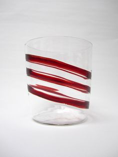 Hand blown Italian drinking glasses adds excitement for any traveling guests at the dinner table