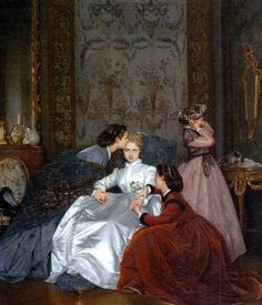 """""""A Relunctant Bride"""" -- by Auguste Toulmouche (French, 1829–1890)"""