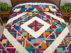 Amish Quilts | Home Sweet Home Quilt -- superb adeptly made Amish Quilts from ...